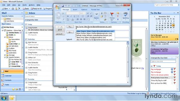 Three ways to use your Address Book: Outlook 2007 Power Shortcuts