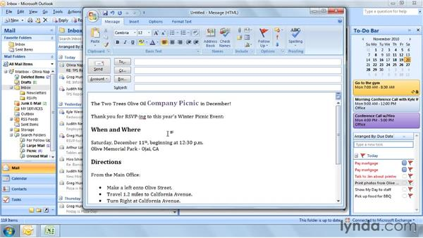 Five ways to use formatting effectively: Outlook 2007 Power Shortcuts