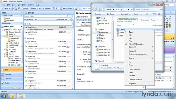 Four faster ways to attach a file to an email: Outlook 2007 Power Shortcuts