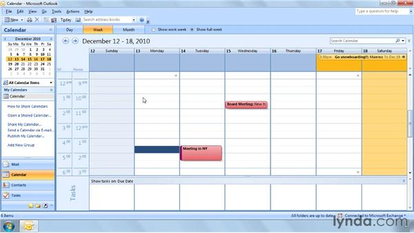 Setting the time zone of an appointment: Outlook 2007 Power Shortcuts