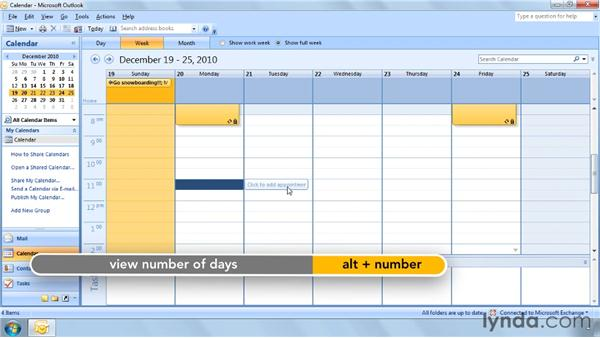 Using the Calendar with shortcut keys: Outlook 2007 Power Shortcuts