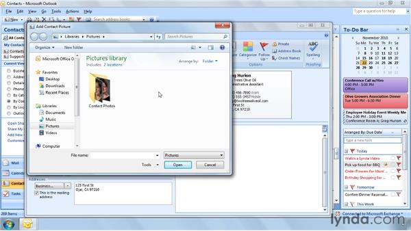 Adding a photo to a contact: Outlook 2007 Power Shortcuts