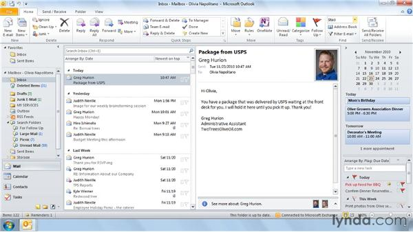 Finding a contact in seconds: Outlook 2010 Power Shortcuts