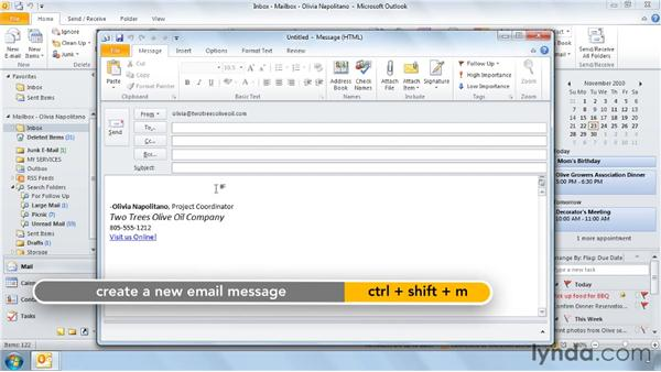 Using Quick Parts to avoid retyping: Outlook 2010 Power Shortcuts
