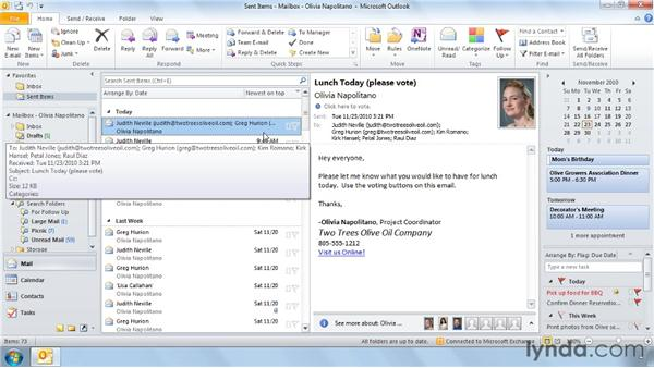 Conducting a vote via email: Outlook 2010 Power Shortcuts