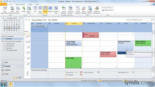Setting the time zone of an appointment: Outlook 2010 Power Shortcuts