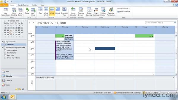 Using the Calendar with shortcut keys: Outlook 2010 Power Shortcuts