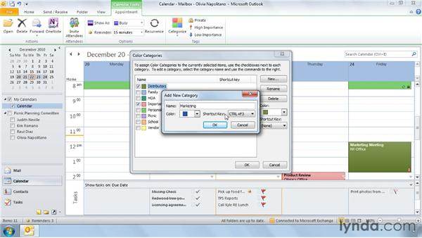Organizing by category: Outlook 2010 Power Shortcuts