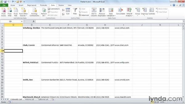 Pulling the data together: Excel 2010: Macros in Depth