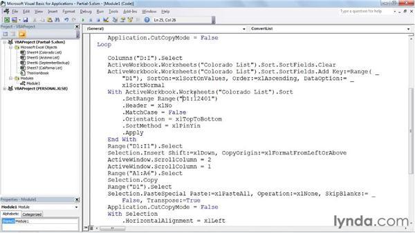 Joining two macros: Excel 2010: Macros in Depth