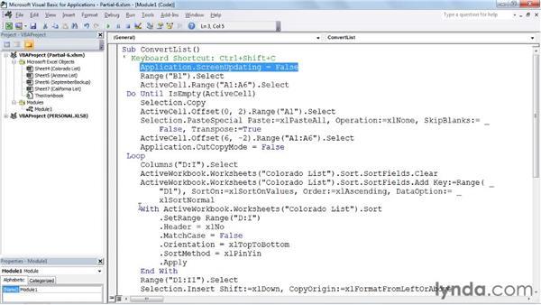 Streamlining macros: Excel 2010: Macros in Depth