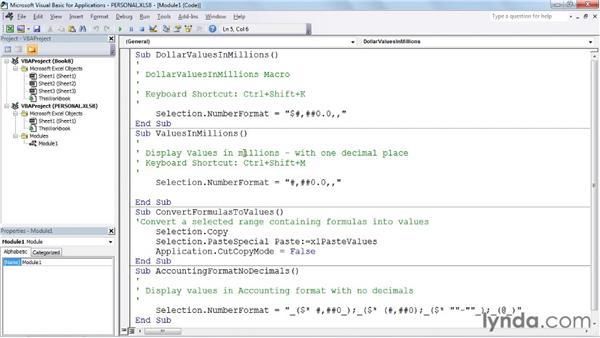 Closing and updating the personal macro workbook: Excel 2010: Macros in Depth