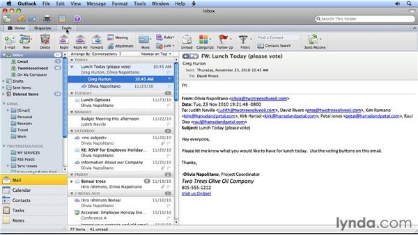 Exploring differences in the user interfaces: Migrating from Entourage 2008 for Mac to Outlook 2011