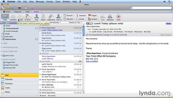 Using Smart Folders: Migrating from Entourage 2008 for Mac to Outlook 2011