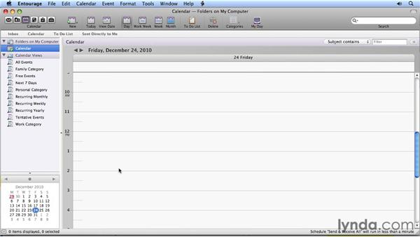 The mini-month calendar: Migrating from Entourage 2008 for Mac to Outlook 2011