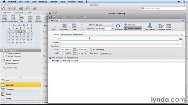 Checking participant calendars when scheduling: Migrating from Entourage 2008 for Mac to Outlook 2011