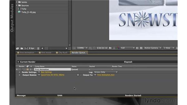 Rendering: After Effects Apprentice 01: Pre-Roll