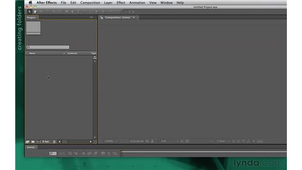 Creating a new project: After Effects Apprentice 02: Basic Animation