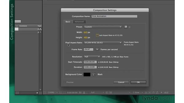 Creating a composition: After Effects Apprentice 02: Basic Animation