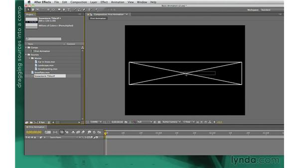 Adding a layer to a comp: After Effects Apprentice 02: Basic Animation