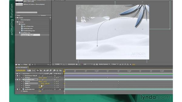 Animating scale, rotation, and opacity: After Effects Apprentice 02: Basic Animation