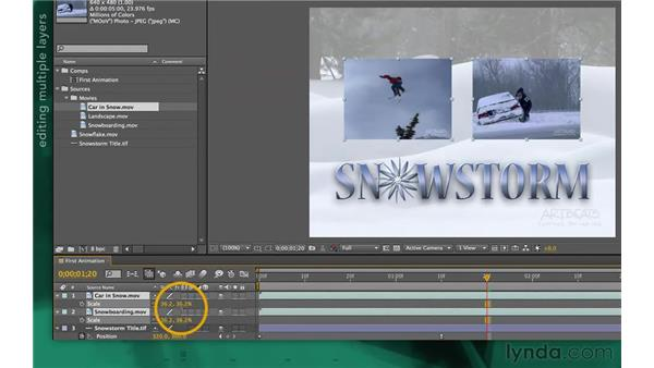 Arranging layers: After Effects Apprentice 02: Basic Animation