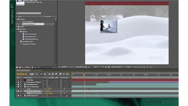 Creating variations of the design: After Effects Apprentice 02: Basic Animation