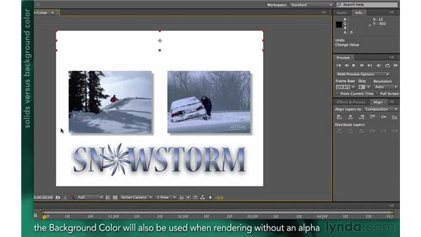 Understanding the background color: After Effects Apprentice 02: Basic Animation