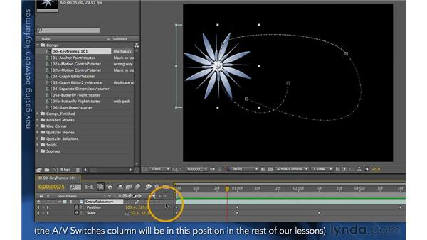 Reviewing keyframes: After Effects Apprentice 03: Advanced Animation