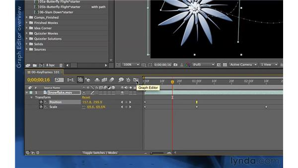 Exploring keyframe interpolation, velocity, and influence: After Effects Apprentice 03: Advanced Animation
