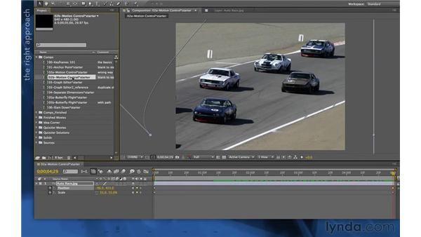 Working with motion control moves: After Effects Apprentice 03: Advanced Animation