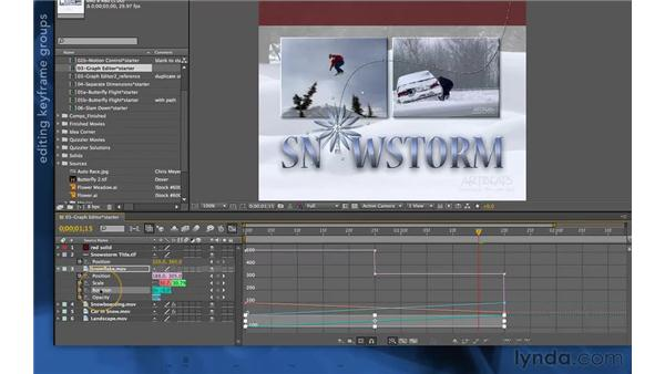 Editing values and timing: After Effects Apprentice 03: Advanced Animation