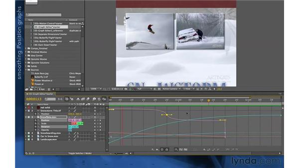 Interpolating in the Graph Editor: After Effects Apprentice 03: Advanced Animation