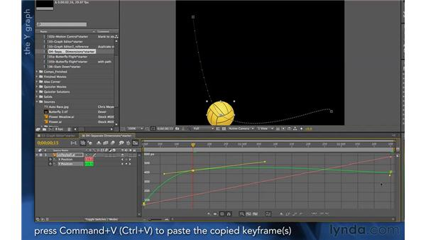 Working with separate dimensions: After Effects Apprentice 03: Advanced Animation