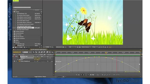 Using roving keyframes: After Effects Apprentice 03: Advanced Animation