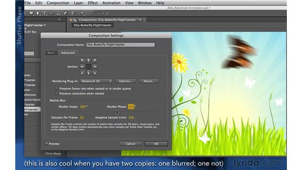 Adjusting motion blur: After Effects Apprentice 03: Advanced Animation