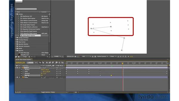 Blinking with Hold keyframes: After Effects Apprentice 03: Advanced Animation