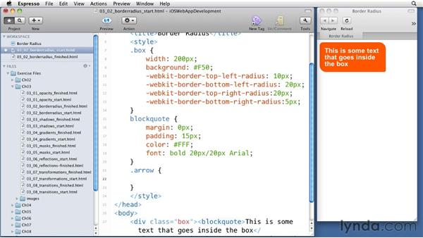 Creating round edges: iOS 4 Web Applications with HTML5 and CSS3