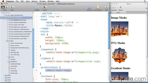 Masking objects: iOS 4 Web Applications with HTML5 and CSS3