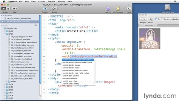Building transitions: iOS 4 Web Applications with HTML5 and CSS3