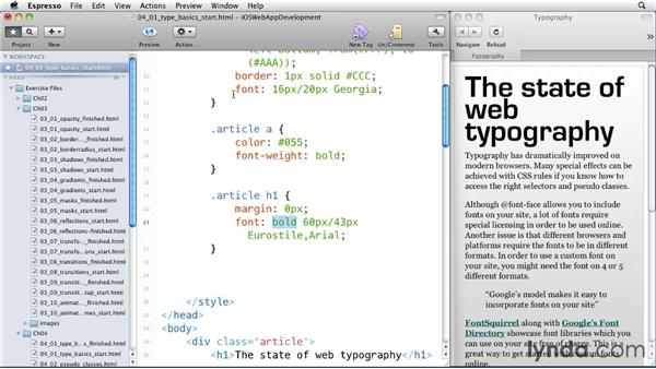 Typography basics: iOS 4 Web Applications with HTML5 and CSS3