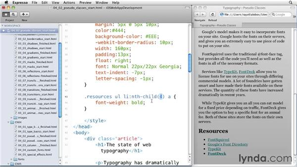 Working with pseudo-classes: iOS 4 Web Applications with HTML5 and CSS3