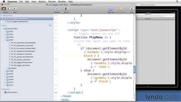 Making a button toggle: iOS 4 Web Applications with HTML5 and CSS3