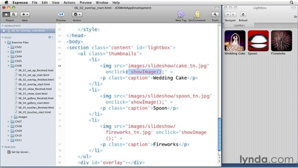 Adding an overlay: iOS 4 Web Applications with HTML5 and CSS3