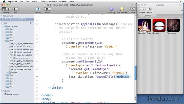 Showing an image: iOS 4 Web Applications with HTML5 and CSS3