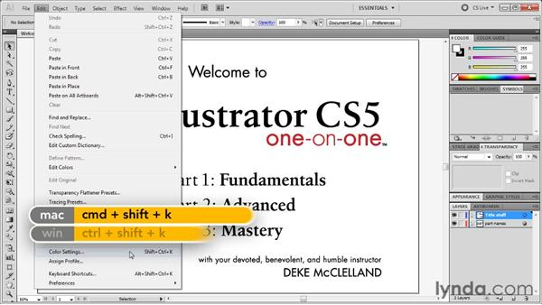 Preserve Numbers vs. embedded profiles: Illustrator CS5 One-on-One: Mastery