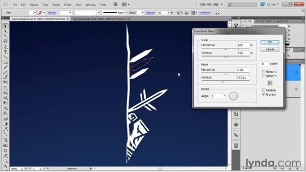Introducing the Transform effect: Illustrator CS5 One-on-One: Mastery