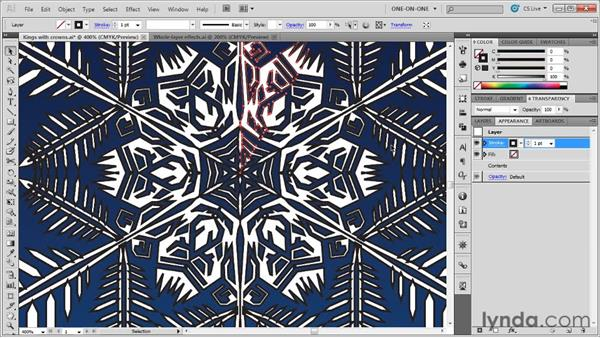 Assigning an effect to an entire layer: Illustrator CS5 One-on-One: Mastery