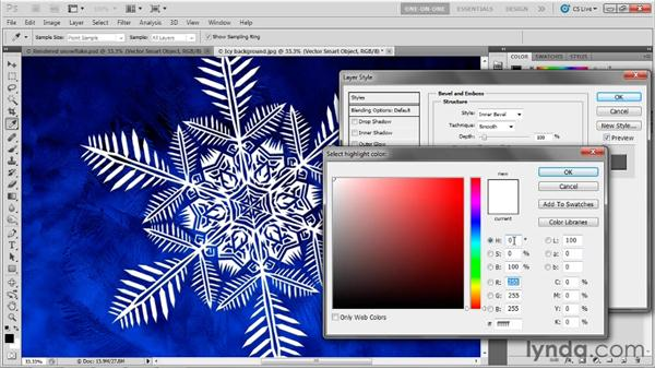 Placing artwork as a Photoshop Smart Object: Illustrator CS5 One-on-One: Mastery