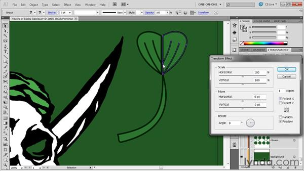 Rotating continuously overlapping objects: Illustrator CS5 One-on-One: Mastery